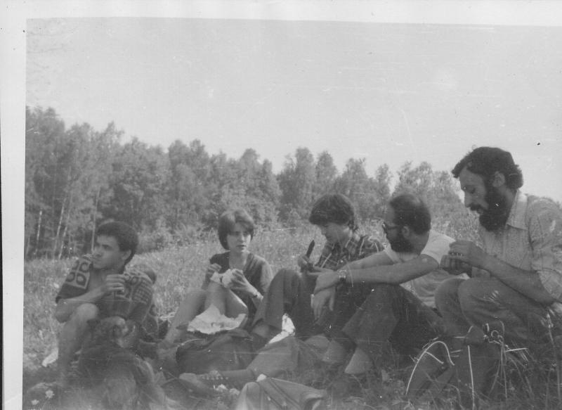 В походе, 1980 г.
