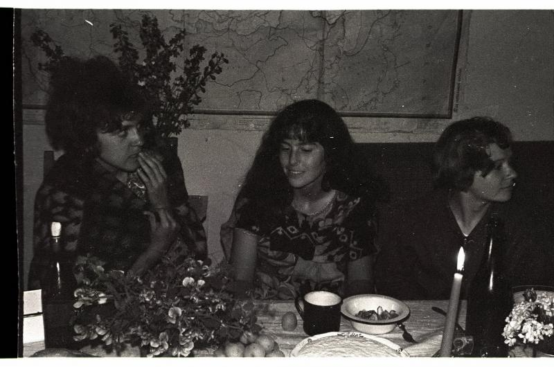 Азербайджан, с. Хиналуг, 1970 г. Е.П. Воронина, Е.В. Гецелевич, И.А. Муравьева