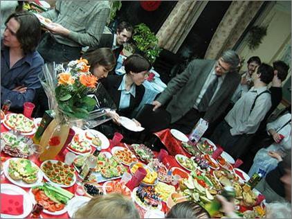 Банкет после защиты диссертации, 2006 г.